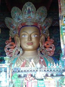 Buddha's statue at Thiksey monastery