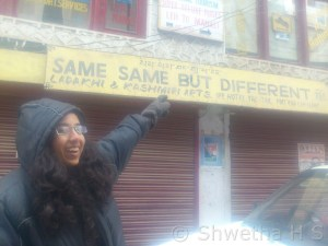 5. Name of a shop in Leh
